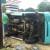 Angkot Terbalik di Depan Lorong Tridharma Kampus UHO, 11 Penumpang Terluka
